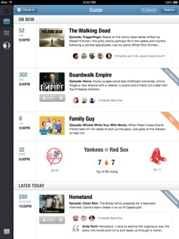 getglue hd 1 GetGlue evolves from check ins to a personalized media guide on iPad as it hits 3 million users