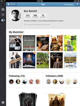 getglue hd 4 GetGlue evolves from check ins to a personalized media guide on iPad as it hits 3 million users