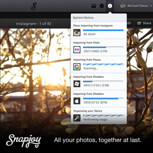 importers graphic Snapjoy launches new importing tool: Nows the time to call it your favorite photo service