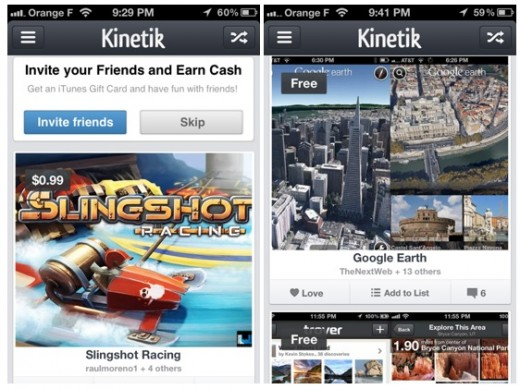 kinetik screenshots 1 520x389 App recommendation platform Kinetik gets a new look as it aims to become Flipboard for apps