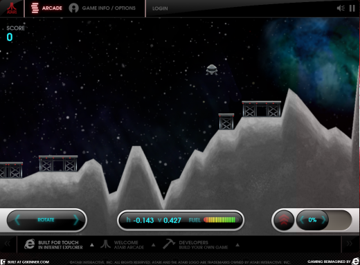 lunarlander 520x383 Microsoft brings Pong, Asteroids and other classic Atari games to the HTML5 touchscreen generation