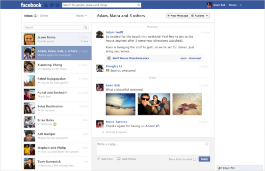 messenger 520x336 Facebook launches new two pane layout for Messages, adds multiple photo support and keyboard shortcuts