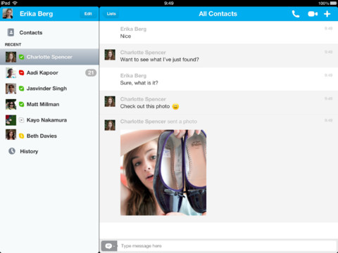 Skypes iOS app updates finally add photo sharing, reduce battery drain and more
