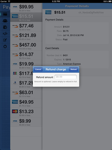 Pay Pad lets you manage your Stripe account and get paid via iPad