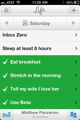 photo 13 Obvious Co. backed Lift is a thoughtful and sharply designed app that helps you build good habits