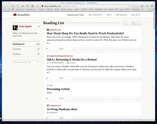 readabilityReadListWeb 520x411 Deep Dive into Readability, an efficient save it later reading service with curated content