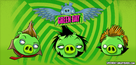 rovio and green day team up to launch green day episode of angry birds friends 520x248 Rovio teams up with rock band Green Day to create a musical Angry Birds Friends episode