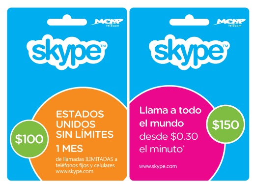 skype cards1 Skype launches pre paid subscription cards in Mexico, showing an adaptation to local realities