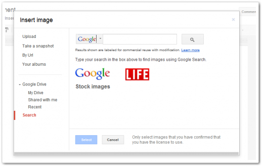 stock images 520x330 Google wants you to help stock its Google Drive stock images library