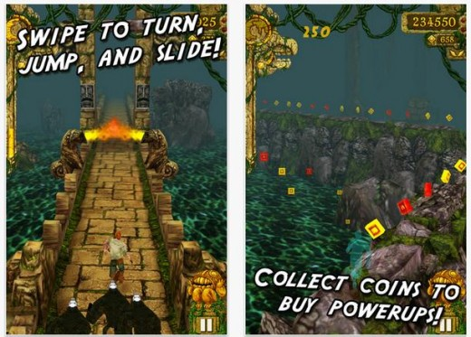temple run shots 520x373 Temple Run races past 100m downloads, doubling its numbers in 4 months