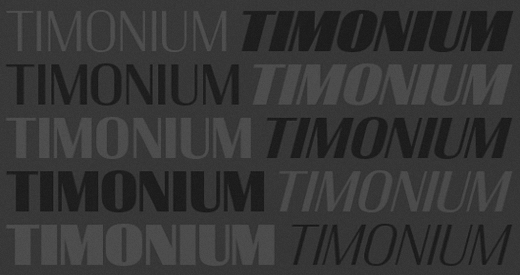 timonium1 25 Brand new typefaces released last month that you need to know about (August)
