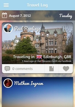 tripl1 Tripl for iPhone: Following your friends travels around the world never looked so good