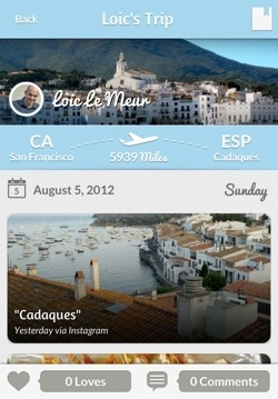 tripl3 Tripl for iPhone: Following your friends travels around the world never looked so good