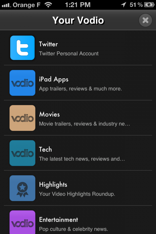 vodio sources 520x780 Video discovery app Vodio lands on the iPhone, launches Highlights feature