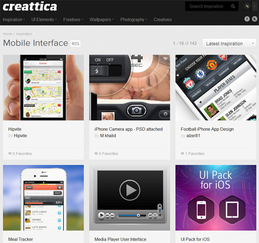 Creattica Check out these 25 sources of great mobile design inspiration