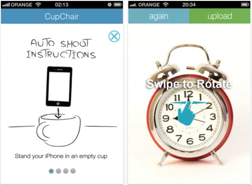 cupchair iphone CupChair makes 360° product views easy, using just your iPhone and a cup