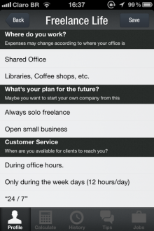 myprice freelance life 220x330 MyPrices iOS app helps freelancers define their rate, hopes to become market reference