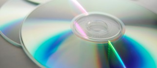 CDs, close up