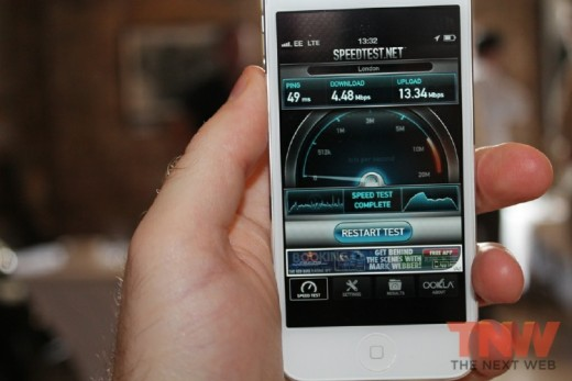 4 13 520x347 Heres how the iPhone 5 fares on EEs new UK 4G network