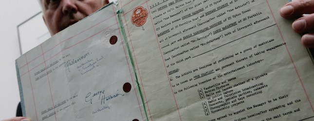 Beatles First Contract With Brian Epstein Goes Up For Auction