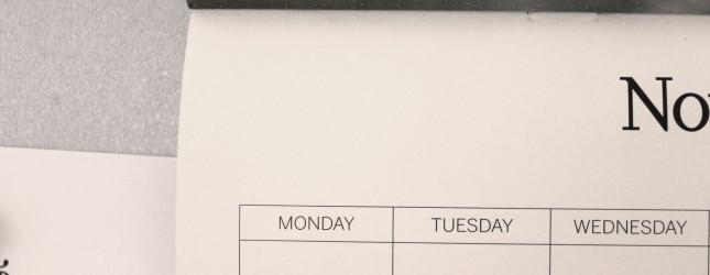 Calendar – Dates – Time