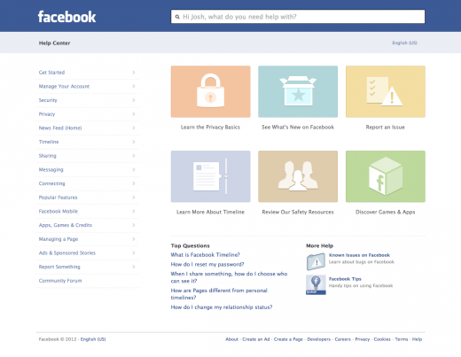 Facebook HelpCenter After 520x403 Facebook revamps its Help Center to actually give you the answers you want