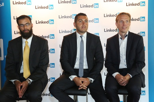 Farhan Syed Director Global Sales Strategy Ali Matar as Head of Hiring Solutions MENA Fredrik Bernsal Commercial Director Partnerships LinkedIn EMEA With several millions of users in the Middle East, LinkedIn opens its first regional office in Dubai