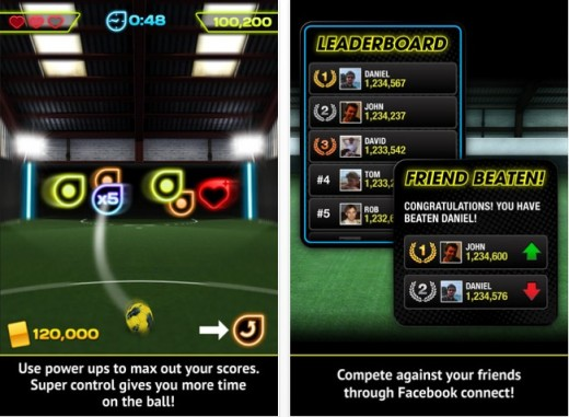 Foot2 520x381 I Am Playr lands on iOS devices as a flick football game, starring Steven Gerrard and other top pros