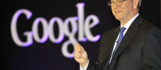 Google Chief Executive Eric Schmidt speaks during a news conference to launch its new tablet PC, Nexus 7, in Seoul on September 27, 2012.  Schmidt criticised raging patent disputes in the global mobile industry, accusing them of stifling innovation and preventing choices for consumers.    AFP PHOTO/JUNG YEON-JE        (Photo credit should read JUNG YEON-JE/AFP/GettyImages)