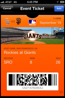 IMG 0170 220x330 The MLBs Passbook ticketing experiment pays off