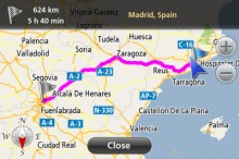 Navfree Spain1 220x146 Apple got you lost? 40 alternative map & GPS apps for iOS