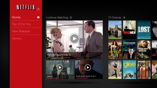 Netflix on Windows 8 520x292 Netflix debuts on Windows 8 tablets and PCs with a brand new modern UI styled app