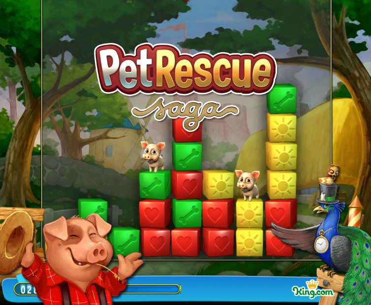 Pet Rescue Saga no Facebook
