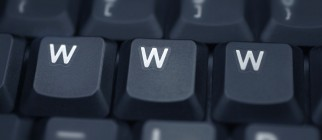 www – spelled in keys on a laptop