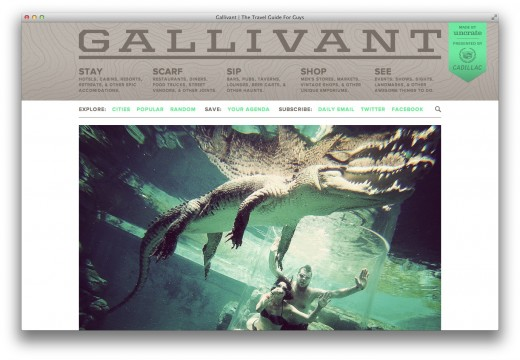 Screen Shot 2012 10 02 at 11.33.33 AM 520x360 Gallivant: The creator of Uncrate and Devour launches a guy centric travel guide