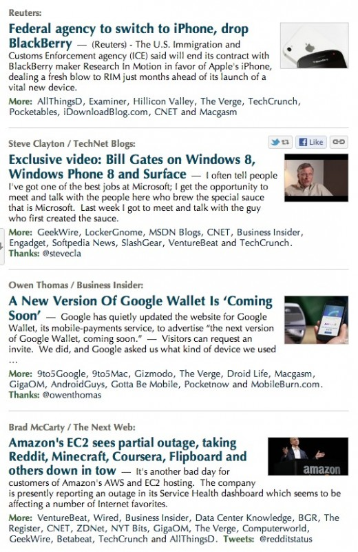 Screen Shot 2012 10 22 at 3.45.14 PM 520x801 Google News gets click to expand clusters, sidebars of photos and videos and an updated Techmeme like layout