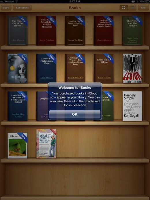 Screen Shot 2012 10 23 at 5.23.22 PM 520x694 Apples new iBooks 3.0 update available now with iCloud purchases in library, sharing, scrolling theme and more