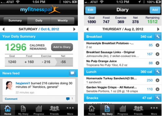 Screenshot 1 520x373 With 30 million users, MyFitnessPal launches a new API to integrate with Fitbit, Runtastic and more