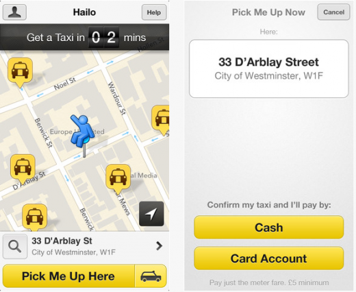 Screenshot 12 520x426 Boston says cheers! to Hailo, as the taxi booking app finally launches in the US