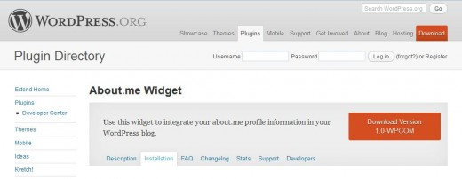 Screenshot 16 520x202 About.me gets an official WordPress widget to display your profile in your blogs sidebar