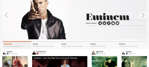 Screenshot 24 520x234 Interscope Records relaunches its corporate website for the e commerce, Twitter generation