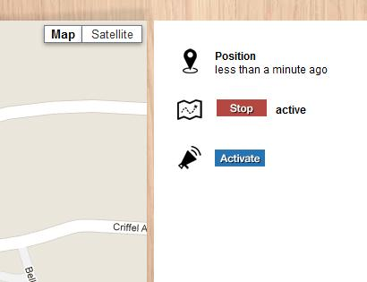 Screenshot 5 Pocket.do: Control your Android phones camera from a browser and locate it on a map if its stolen