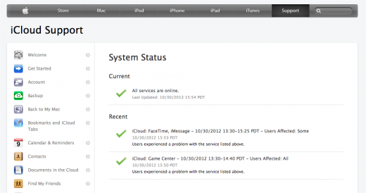 Apple system screenshot