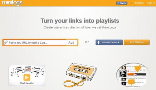 a4 520x299 Minilogs: A bookmarking tool and media player that turns your links into playlists
