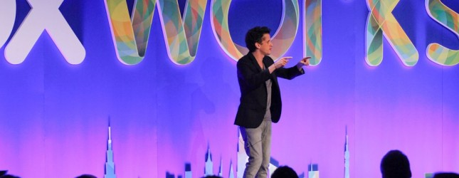 Aaron Levie speaks at Boxworks