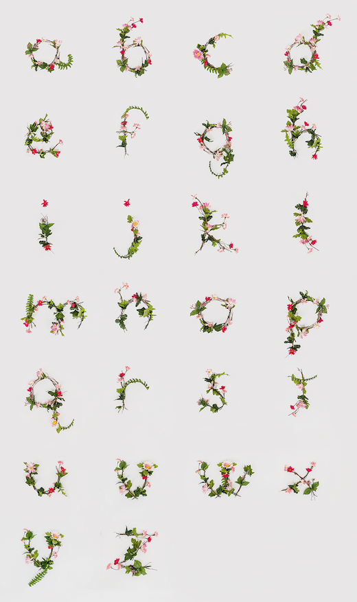 anne lee floral alphabet Typographic inspiration: Creating a font from flowers
