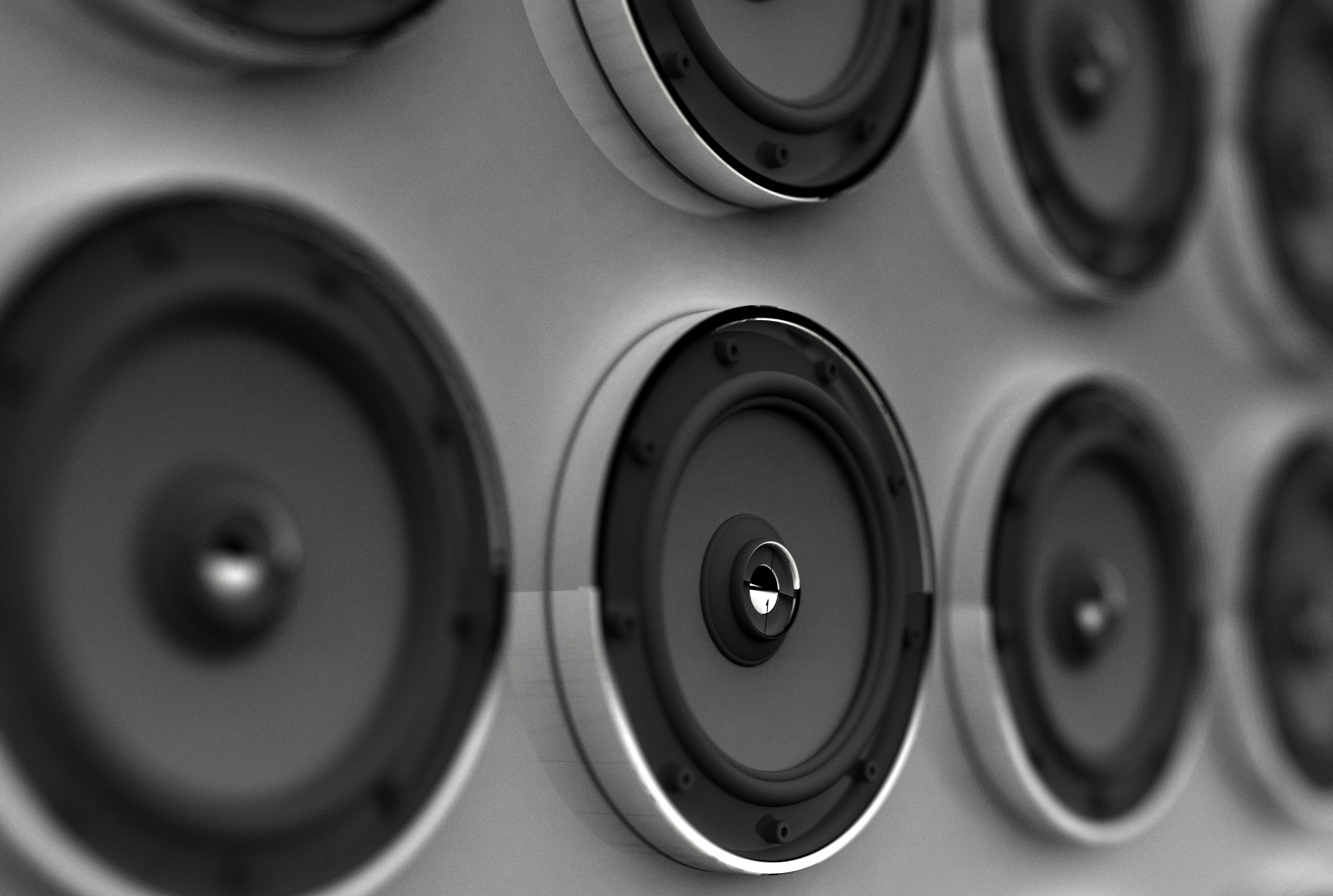 Rows of speakers (Digital)