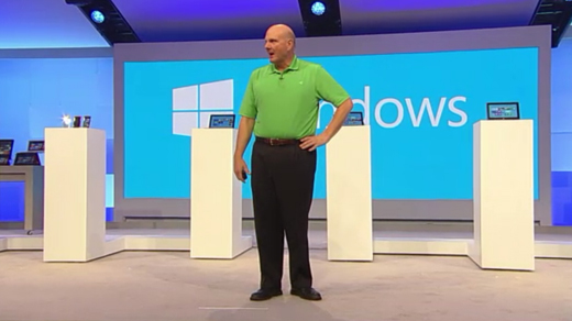 ballmer crop Microsoft announces 4 million Windows 8 upgrades sold in first three days