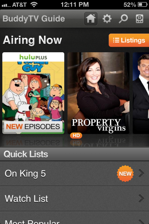 buddy tv hulu plus 2 520x780 BuddyTV Guides iOS app is now listing Hulu Plus content
