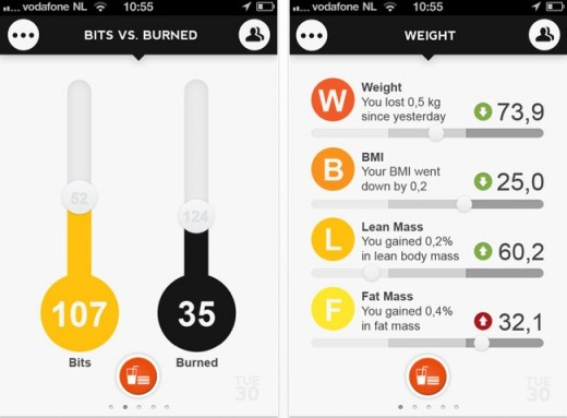 c1 520x383 Foodzy relaunches its mobile apps, now lets you see calories eaten vs. burned based on Fitbit data